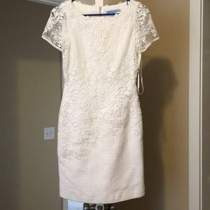 Antonio Melani white lace dress